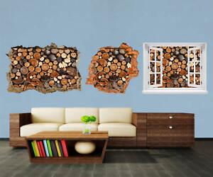 3d-Muro Sticker legna da ardere mucchio di adesivi muro episodico m0706  </span>