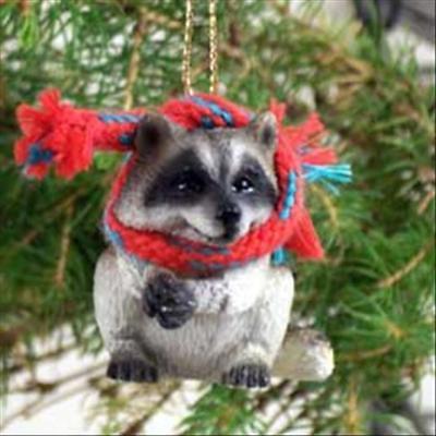 Tiny Christmas.Raccoon With Scarf Tiny One Miniature Small Christmas Ornament Ebay