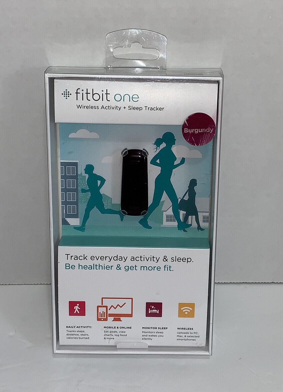 NEW Fitbit One Wireless Activity Plus Sleep Tracker Burgundy