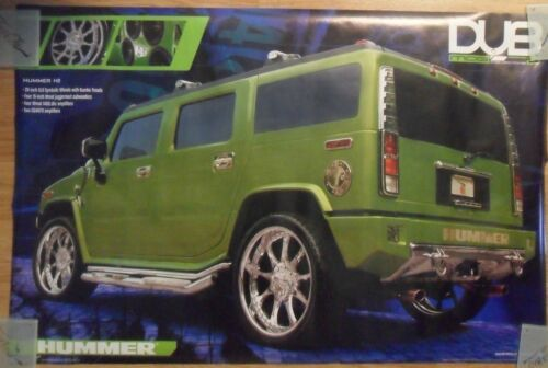 Automobile Car Poster ~ Green Hummer H2