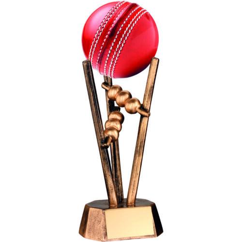 Cricket Ball Holder, Antique Gold Resin, 165mm, FREE Engraving,(RF20) td