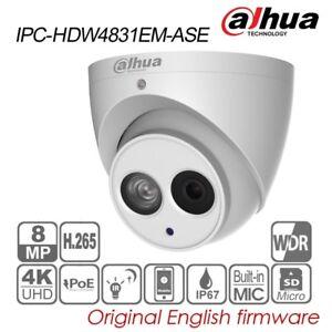 Dahua 4K 8MP Built-in MIC IR Eyeball IP Camera H.265 POE IP67 IPC-HDW4831EM-ASE