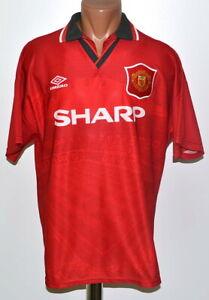 Manchester United 1994/1995/1996 Calcio Casa maglietta jersey Umbro Taglia L adulto