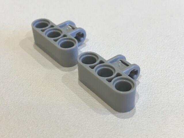 Lego technic 4x pin axle connector perpendicular triple gris//lb gray 63869 NEW