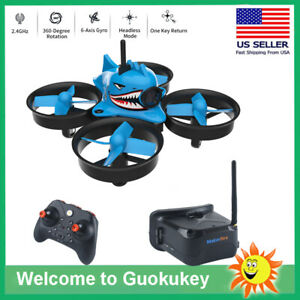 Micro-FPV-Racing-Drone-With-Goggles-Camera-RTF-Tiny-Whoop-Quardcopter-Blue-Shark