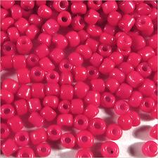 Perles de Rocailles en verre Opaque 2mm Rouge Fuchsia 20g (12/0)