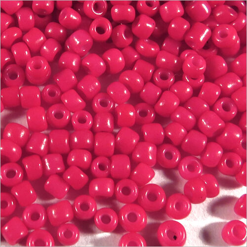 Rocaille Glass Seed Beads Opaque 2mm Red Fuchsia 20g 12//0