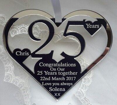 25ème anniversaire de mariage sac cadeau argent Personnalisé