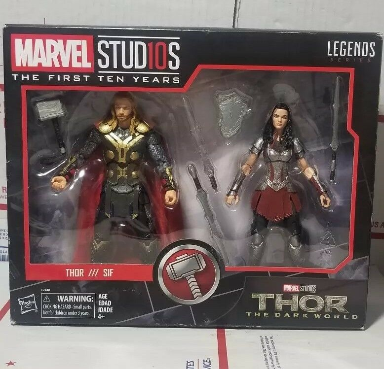 Marvel Legends Thor&Sif Marvel Studios 6 The Dark World Set-Brand new-fast ship