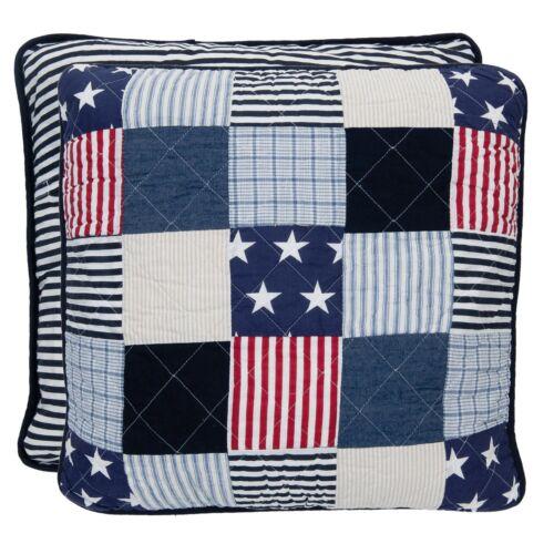 Taie d/'oreiller USA 50x50 Bleu Blanc Rouge étoiles stars Maison de campagne Cushion