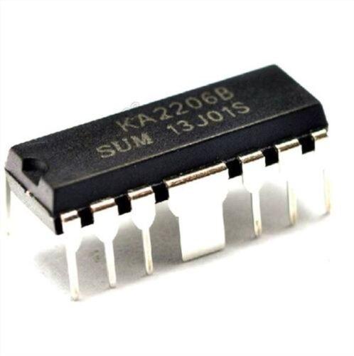 10 Stücke KA2206 KA2206B Summe DIP12 Dual Audio Endstufe eq