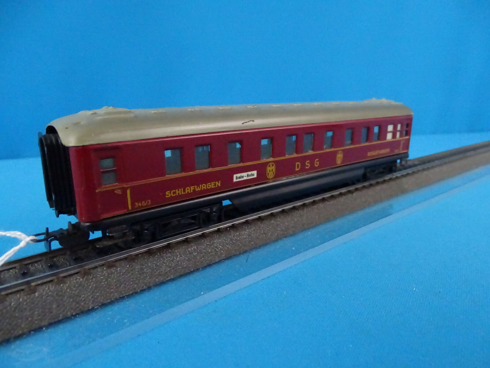 Marklin 346 3 4010 Sleeping car rot vers. 9 with interior lighting OVP