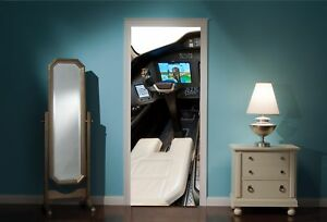 Door-Mural-Airplane-Citation-Cockpit-View-Wall-Stickers-Decal-Wallpaper-151