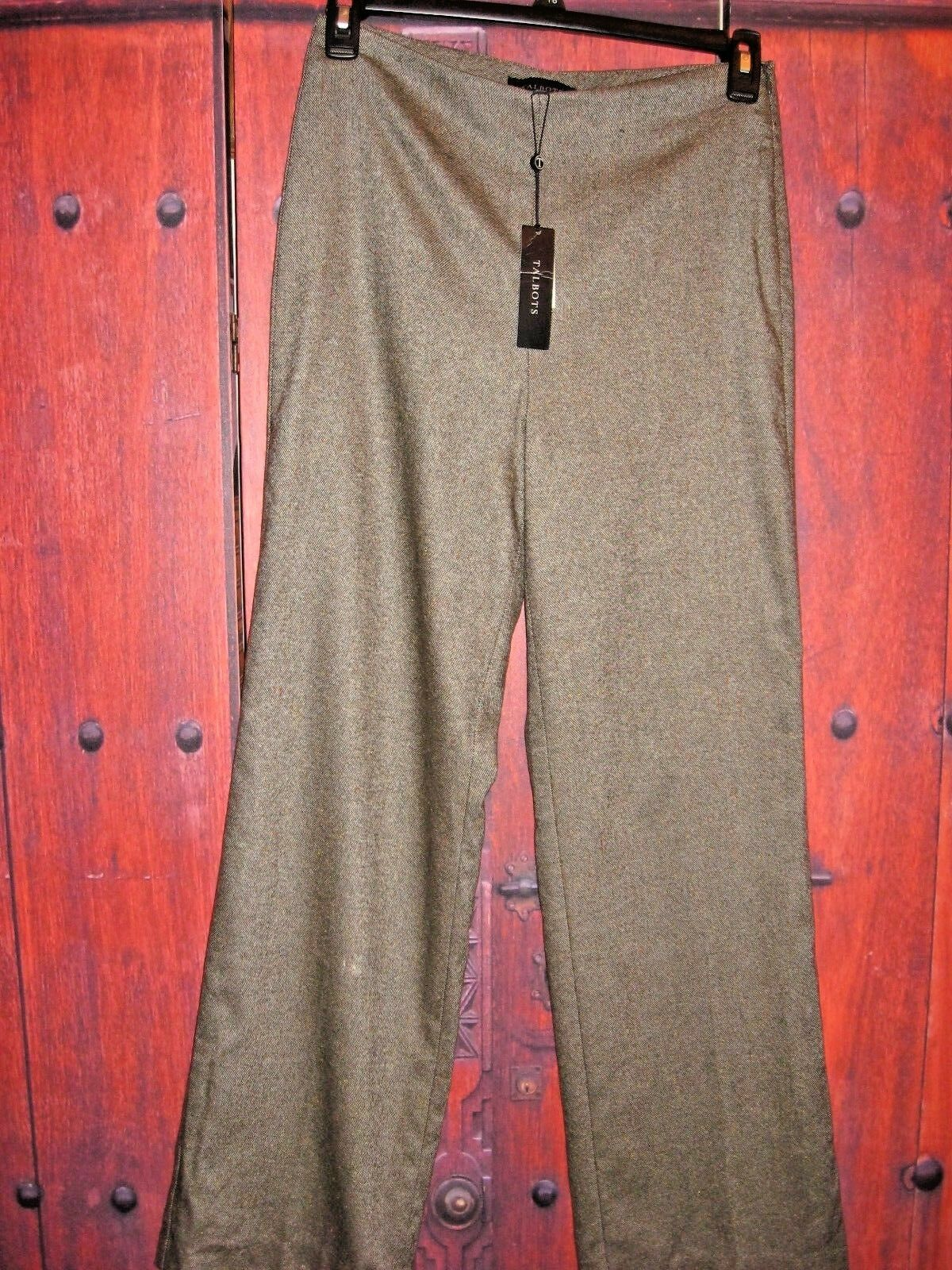 TALBOTS WOMEN'S WOOL BLEND DRESS GORGEOUS PANTS SIZE 6   119.00
