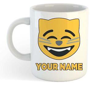 Tasse Personnalisé Chat Emoji Happy Détails Sur Votre Visage Nom Add LqUzVSMpG