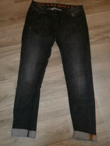 W Rock Gr Revival Noir extensible Skinny Darcy 29 Jeans EqA0WnS