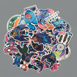 50Pcs-Lindo-Dibujos-animados-Clasico-Lilo-Stitch-Adhesivos-Para-Patineta-equipaje-Ninos-Juguetes