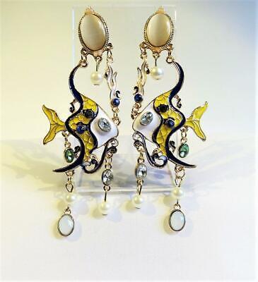 Pair! Angel Fish Earrings New