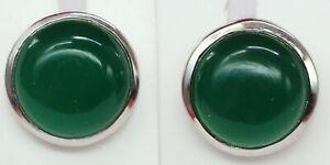 Edler-9-0-Carat-gruener-Onyx-Ohrstecker-925-Sterling-Silber-Top-Stein