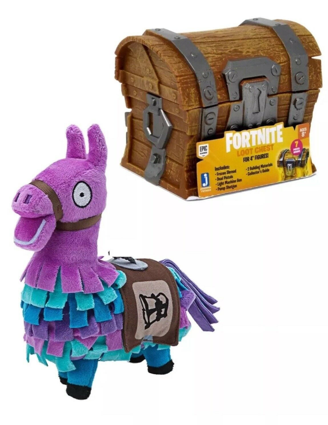 Fortnite Loot Llama 8  Plush And Loot Chest Bundle Fast Shipping.