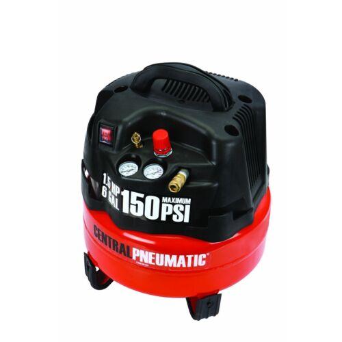 6 Gallon 1.5 HP 150 PSI Professional Air Compressor PORTABLE FREE FEDEX FROM USA