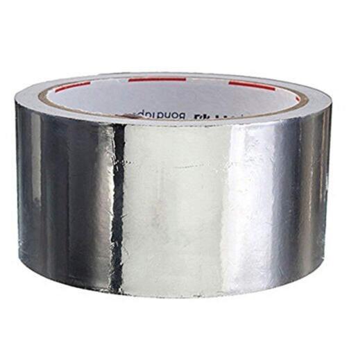 20m Aluminium Rolle Aluminiumfolie Klebeband Alufolie Selbstklebend Aluband