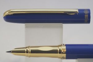 Industrieux Hero No. 7029 Lacquered Blue Extra Fine Fountain Pen With Gold Trim éLéGant En Odeur