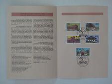 (95j32) Bund Erinnerungsblatt 1995 ESST Mi.Nr. 1819-1823 Wohlfahrt Bauernhäuser