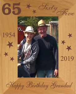Image Is Loading PERSONALISED 65th BIRTHDAY PHOTO FRAME MUM DAD NANNY