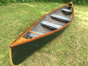 Details about 1924 Old Town Canoe Penobscot Bay Double end ender pea pod  pulling boat rowing
