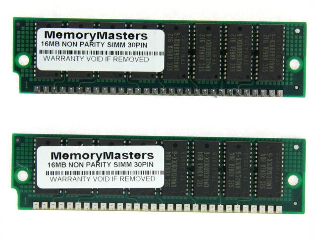 2x 8MB 72-pin 60ns FPM Non-Parity Fast Page RAM 2Mx32 SIMM Memory FPM Mac PC