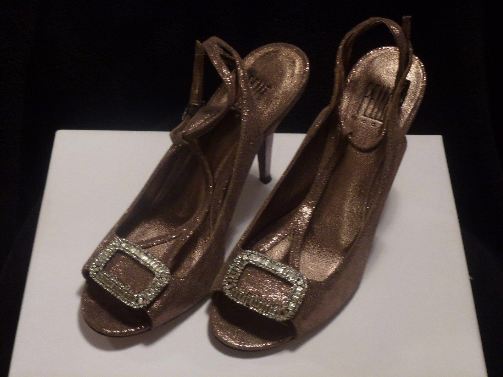 Pelle Moda damen schuhe Bronze Glittery Bronze schuhe 8 M High 3 in and Up ae6c51