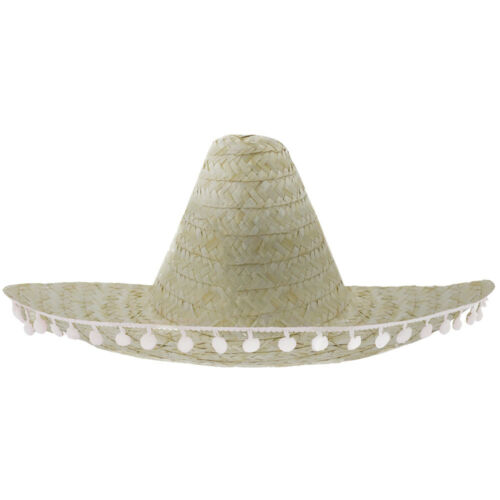 Il MESSICANO SOMBRERO Cappello Pompon Western Bandito Costume Accessorio Addio Al Nubilato Costume