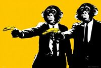 Pulp Fiction Movie Chimps With Bananas Poster 36x24 Free Ship