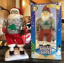 Gemme Christmas 1998 Skiing Santa in Original Box Music is Let It Snow
