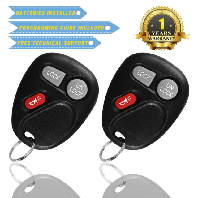 2x Keyless Entry Remote Control Car Key Fob Replacement for 15252034