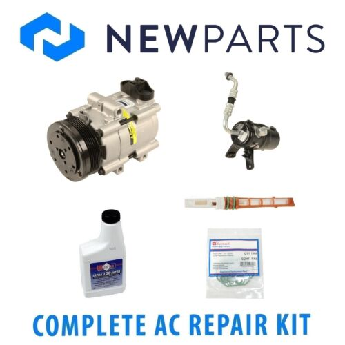 For Ford F-150 2005 5.4L 4.6L Complete A//C Repair Kit w// NEW Compressor /& Clutch
