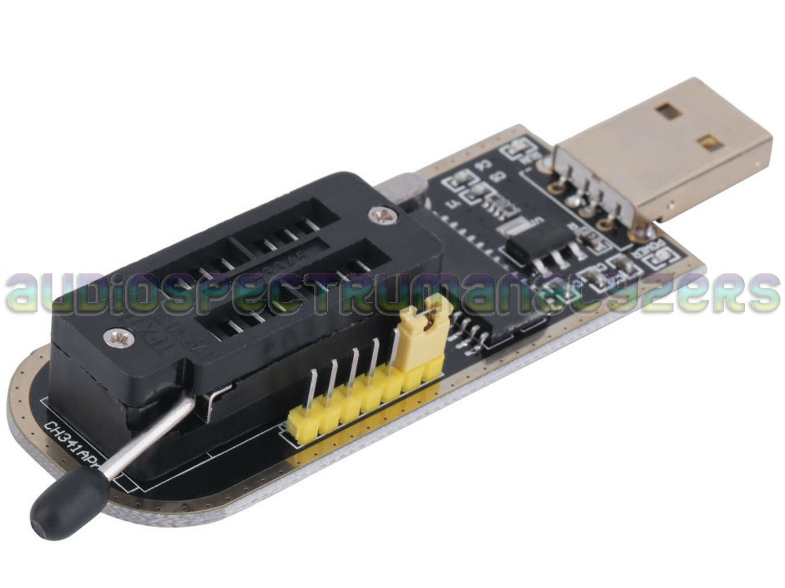 Ch341a Usb Programmer 24 25 Series Eeprom Flash Mx25l6406e Macbook To Parallel Serial Circuit Diagramch341 Basiccircuit 1 X Smd Adapter Pcb With Pins