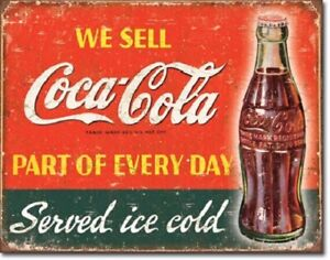 US SELLER clearance home decor Ice Cold Coca Cola tin metal sign