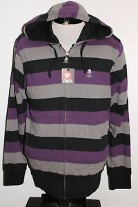 NEW-NWT-CIRCA-Shoes-Mens-Large-L-Striped-lightweight-hooded-Sweatshirt