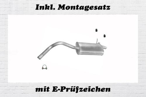 Montagesatz Renault Kangoo 1.2 1.4 1.6 1.9D Endschalldämpfer Auspuff Endtopf