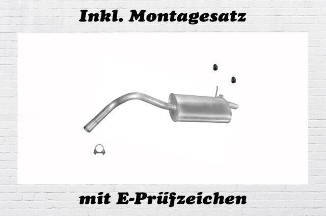Endschalldämpfer SEAT IBIZA 2 1.0 1.4 1.6 1.8 2.0 1.9D 1996-2002 Endtopf Auspuff