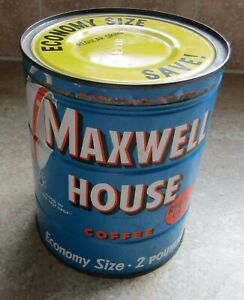 Details About Vintage Maxwell House Coffee Keywind 2 Pounds Tin With Lid