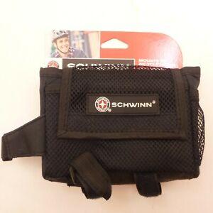 SCHWINN-6-034-x-4-034-Bicycle-Bag-Mounts-to-Frame-Top-Tube-amp-Stem-Black-Mesh-Fabric