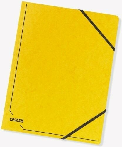 DIN A4 Colorspankarton gelb FALKEN 11286648  Eckspanner