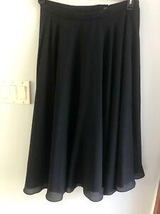 Euc Evening Taylor 18 Zipper Morgan Lined Long Sz Formal Skirt Black Full OxdPp8Hq