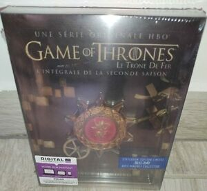 [Blu-ray] Game of Thrones (Le Trône de Fer) - Saison 2 - Steelbook - HBO - NEUF