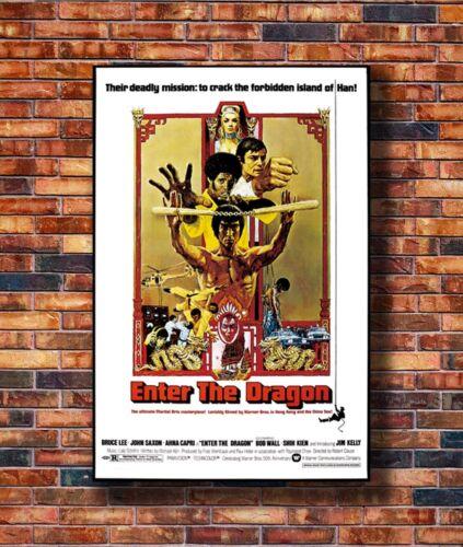 T1948 20x30 24x36 Silk Poster ENTER THE DRAGON Movie Kung-Fu Bruce Lee Art Print