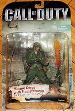CALL OF DUTY WWII FLAMETHROWER MARINE CORPS BATTLE OF PELELIU MCFARLANE TOYS MOC