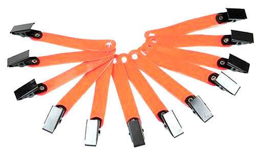 Reflective clip on trail markers 12 PK Mossy Oak Orange ribbon hunting fence etc